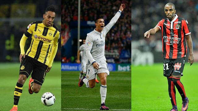 Ronaldo et Aubameyang sont les stars de l'équipe du week-end