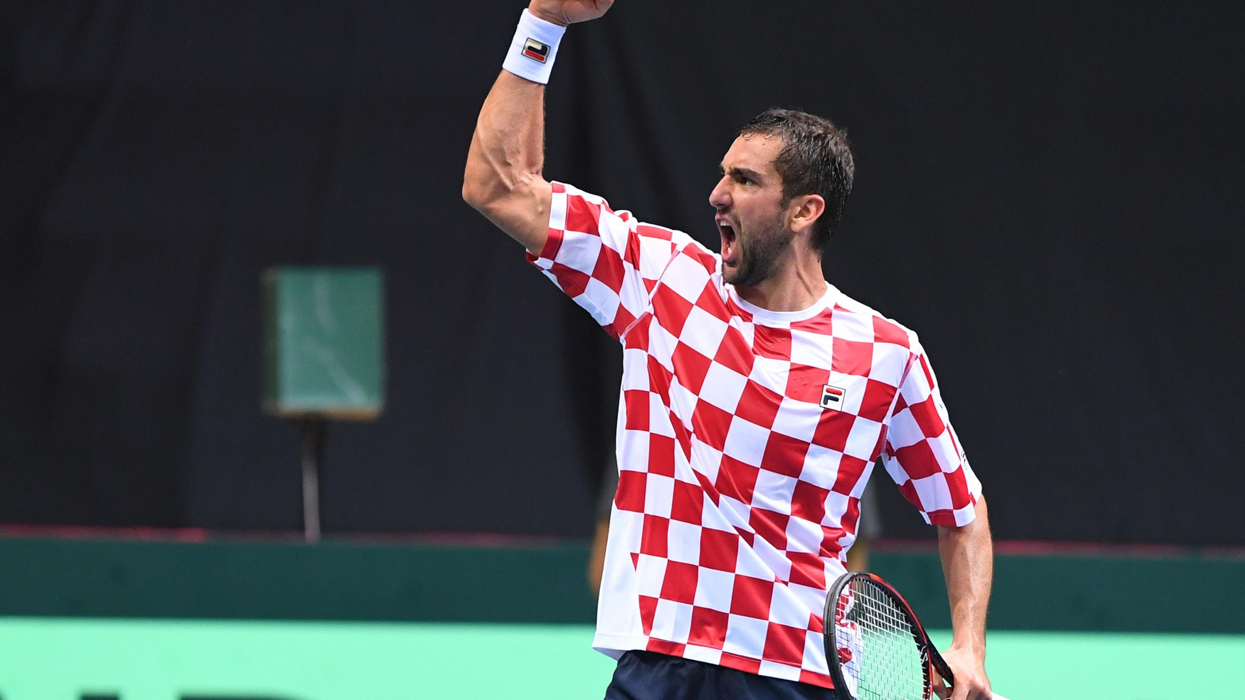 Maric Cilic Coupe Davis 2016 Demi finale Croatie France