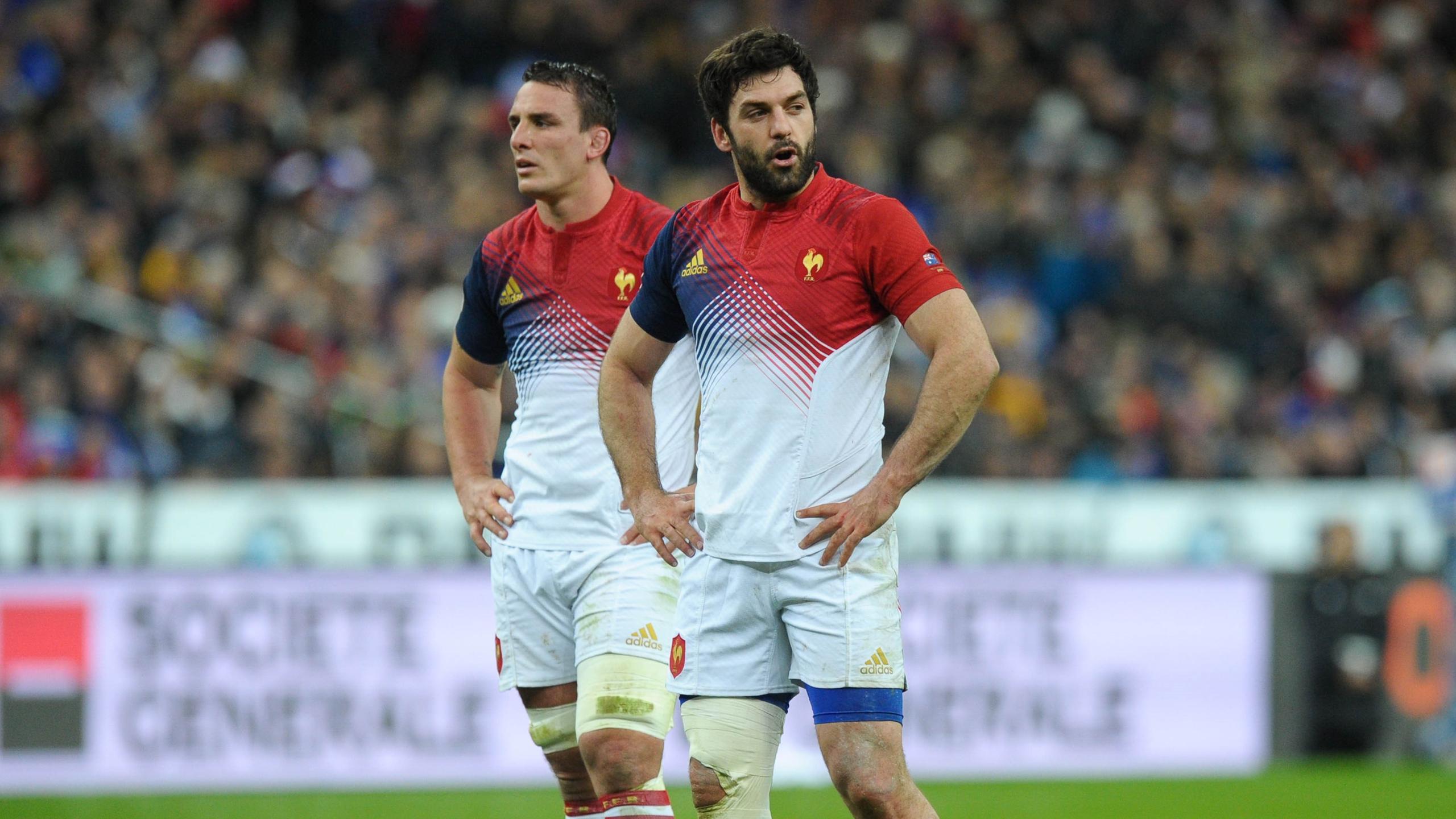Louis Picamoles et Kévin Gourdon (XV de France) - novembre 2016