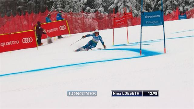 Killington giant slalom: Loeseth leads after 1st run