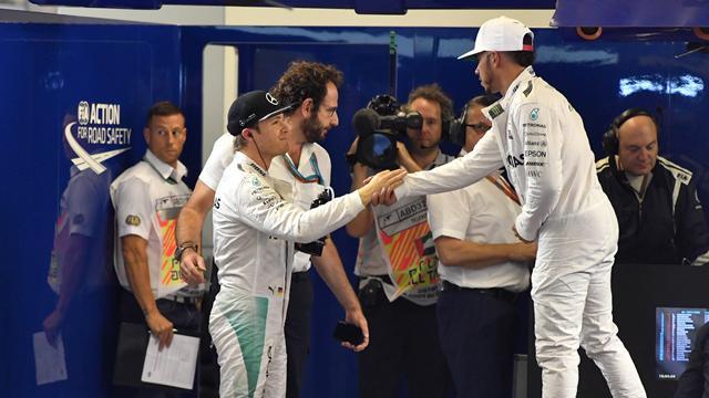 """""""Hochverdient"""": Versöhnliche Worte von Hamilton an Rosberg"""