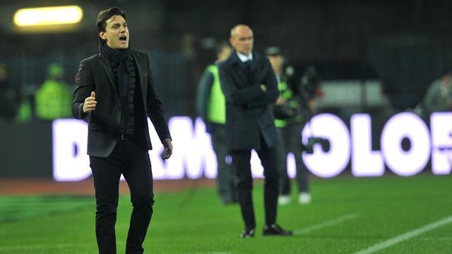 Tifosi del Milan contro Bacca