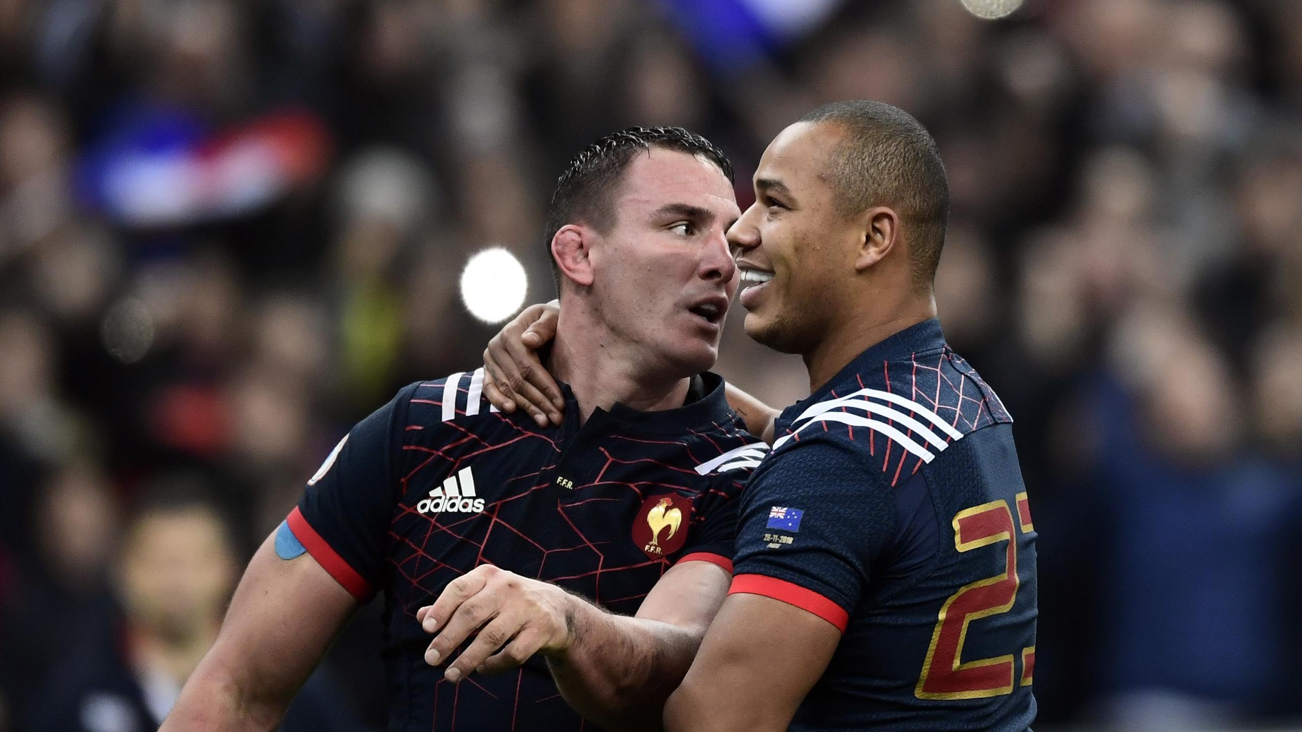 Louis Picamoles et Gaël Fickou (XV de France) - 26 novembre 2016