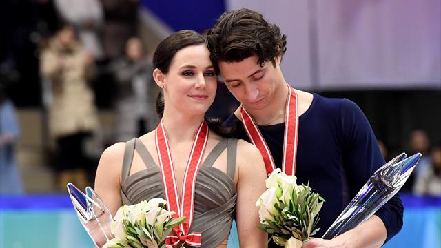 Virtue and Moir storm to NHK Trophy title with world-record performance