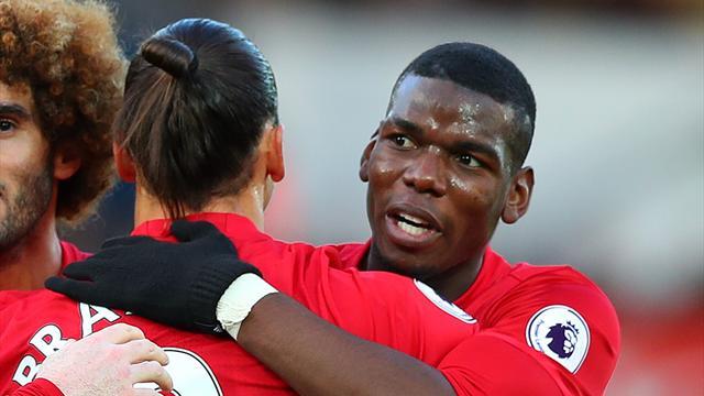 Du caviar pour Ibra et Pogba signe sa première passe décisive en Premier League