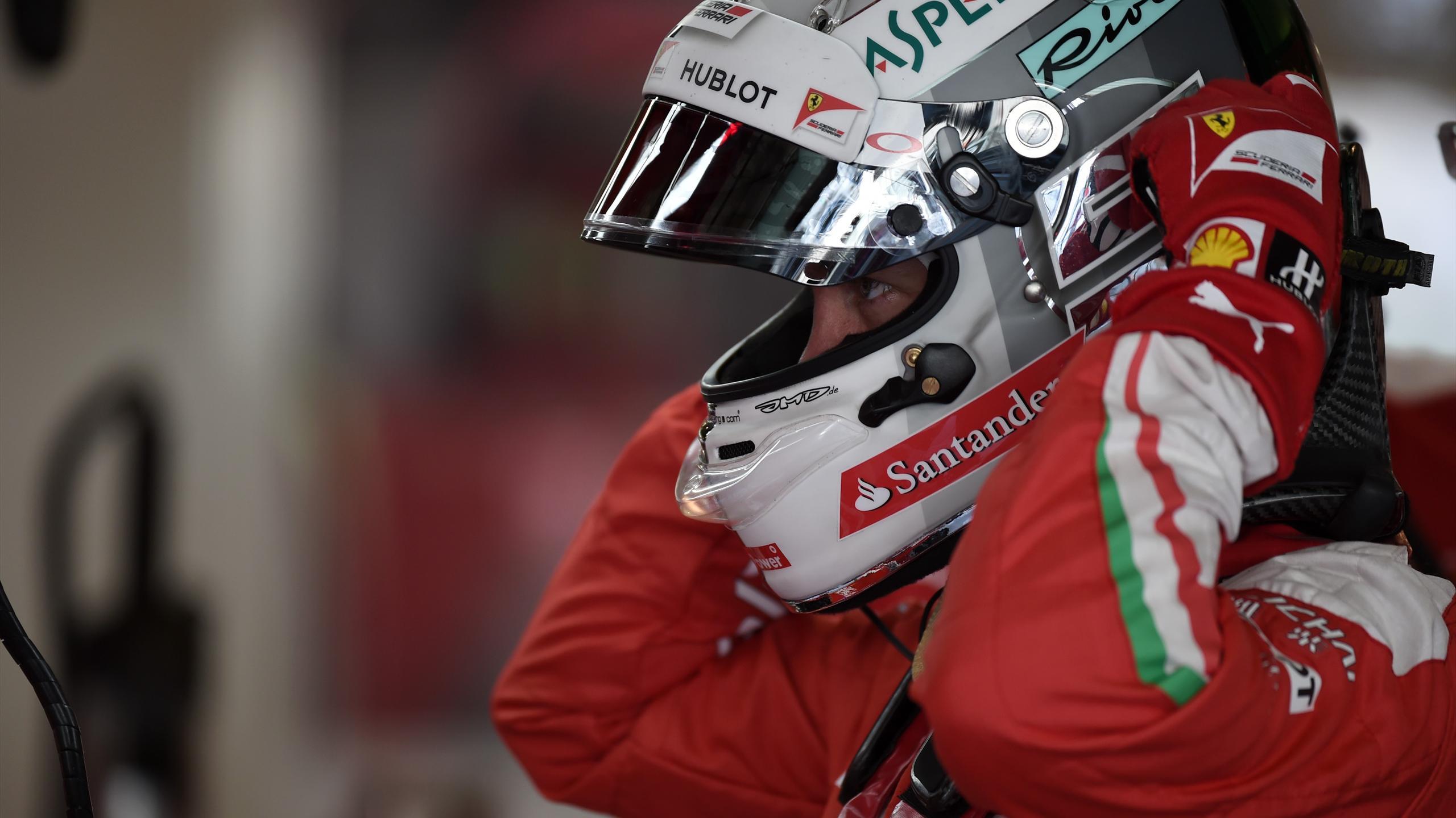 Sebastian Vettel (Ferrari) lors du Grand Prix d'Abou Dabi 2016