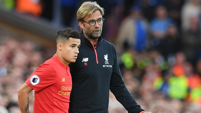 Coutinho out for at least five weeks with ankle injury