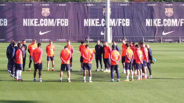 La minute de silence du Barça