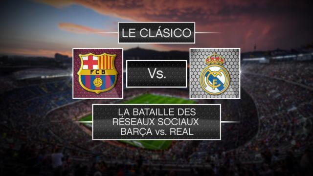 Entre le Barça et le Real, il y a la bataille sur le terrain et celle sur les réseaux sociaux