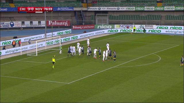 En trois minutes chrono, un doublé d'Inglese a mis le Chievo sur les rails