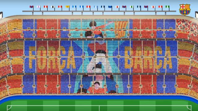 Découvrez le tifo inédit du Camp Nou pour le Clasico