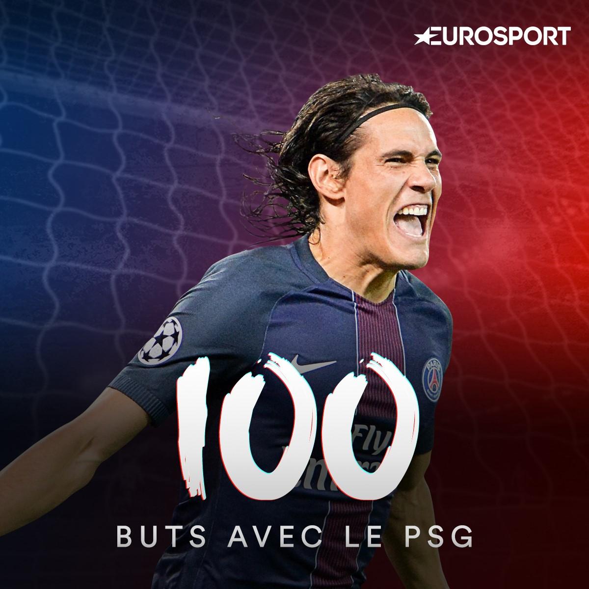 Edinson Cavani a atteint le cap des 100 buts marqués sous le maillot du PSG.