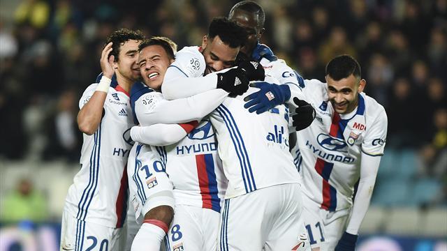 0-6 : Lyon cartonne Nantes dans un match qui fera date