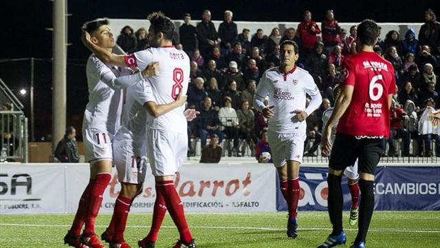 1-5. El Sevilla no tuvo piedad del modesto Formentera