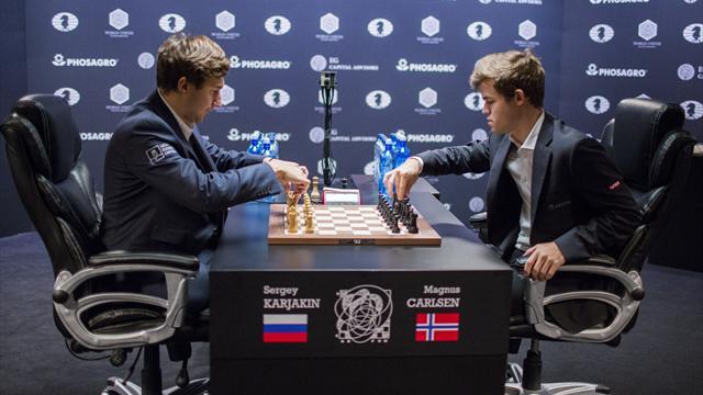 Карякин и Карлсен сыграли вничью в первой партии тай-брейка