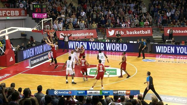 Eurocup, Bayern Múnich vs Unicaja: Caen en los últimos segundos  (72-69)