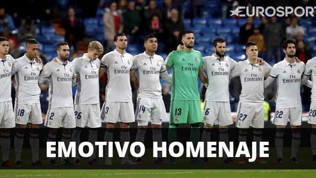Emotivo minuto de silencio y homenaje del Real Madrid al Chapecoense