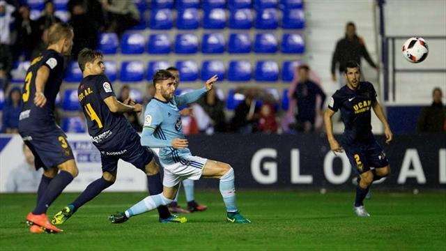 0-1. El Celta gana con un gol de Sergi Gómez a un combativo UCAM
