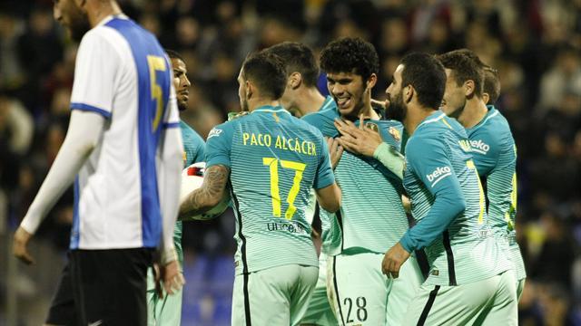 Copa del Rey, 1/16 ida, Hércules-Barcelona: Aleñazo y gracias (1-1)