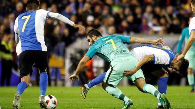 1-1. El Barcelona no pasa del empate ante un aguerrido Hércules