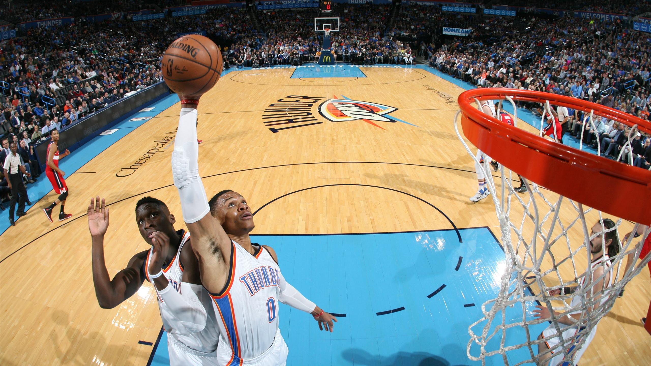 Russell Westbrook avec le Thunder en NBA - 2016