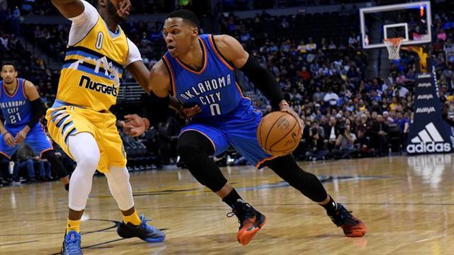 126-115. Westbrook logra cuarto triple-doble seguido en triunfo de Thunder