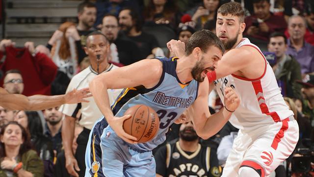 Raptors-Grizzlies: Marc Gasol no es suficiente ante un Toronto enrachado (120-105)