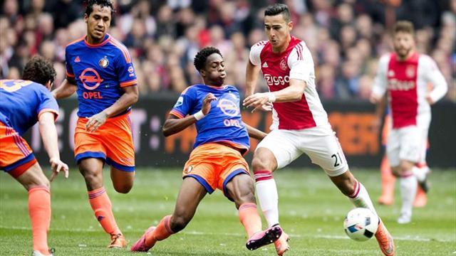 Feyenoord y Ajax pujan por el liderato en la jornada 15 de la liga holandesa
