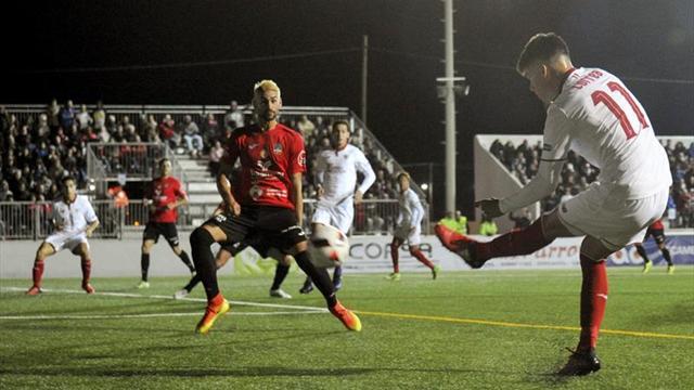 El 'Tucu' Correa utiliza la Copa para pedirle sitio a Sampaoli