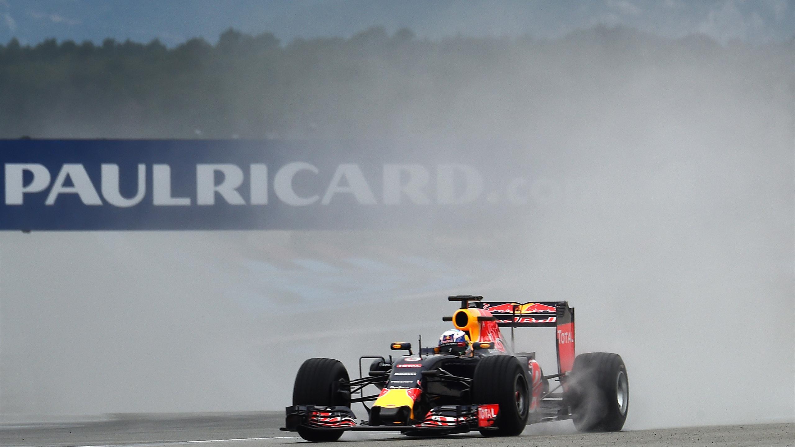 Daniel Ricciardo lors d'essais sur le circuit Paul-Ricard du Castellet