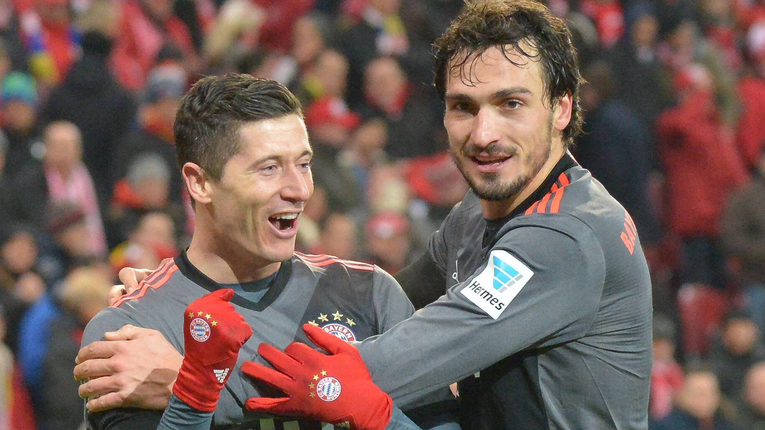 Lewandowski Hummels - Mainz-Bayern München - Bundesliga 2016/2017 - Imago