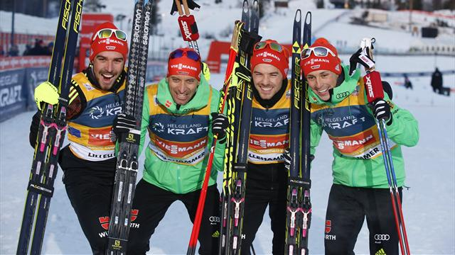 Germany win team event in Lillehammer