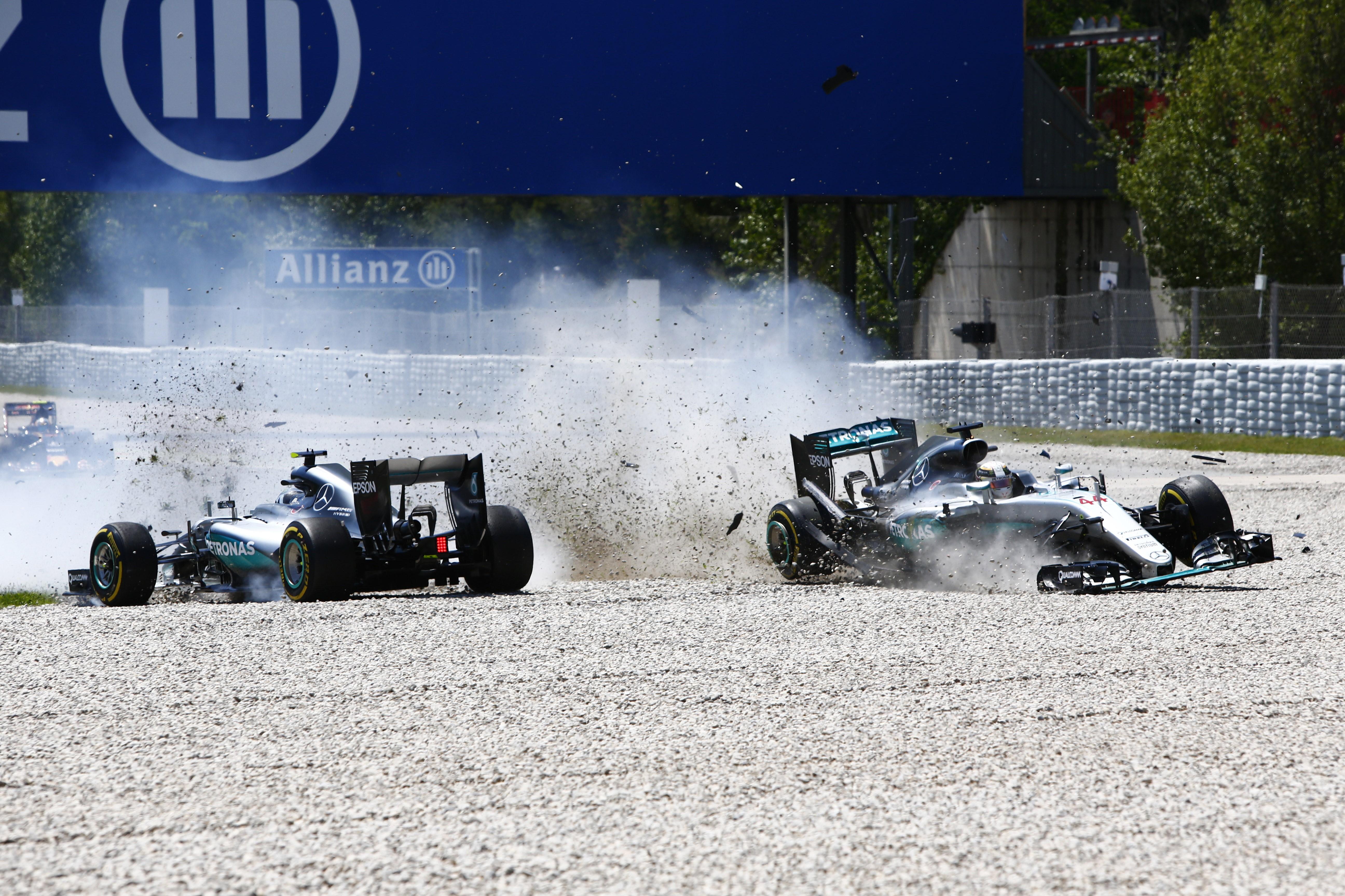 Nico Rosberg et Lewis Hamilton (Mercedes) au Grand Prix d'Espagne 2016