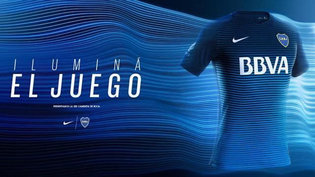 Dégradé de bleu pour le nouveau maillot de Boca Junior