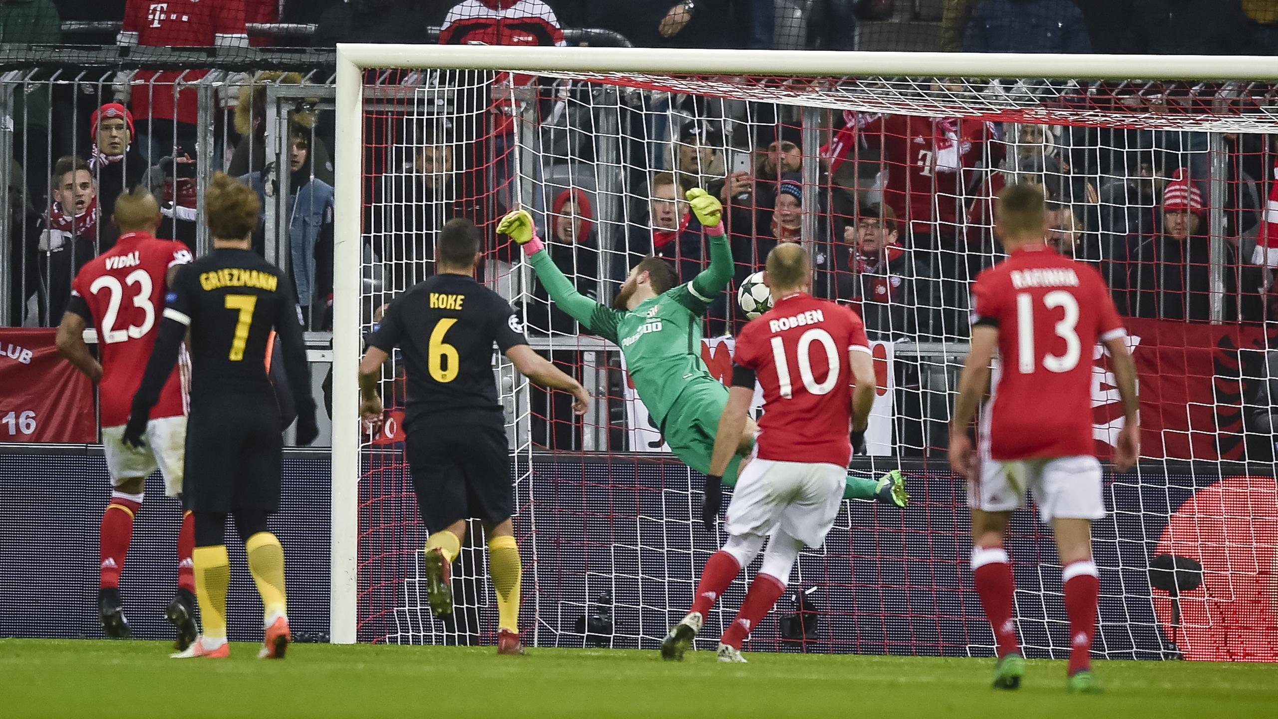Gol Lewandowski - Bayern vs Atlético de Madrid