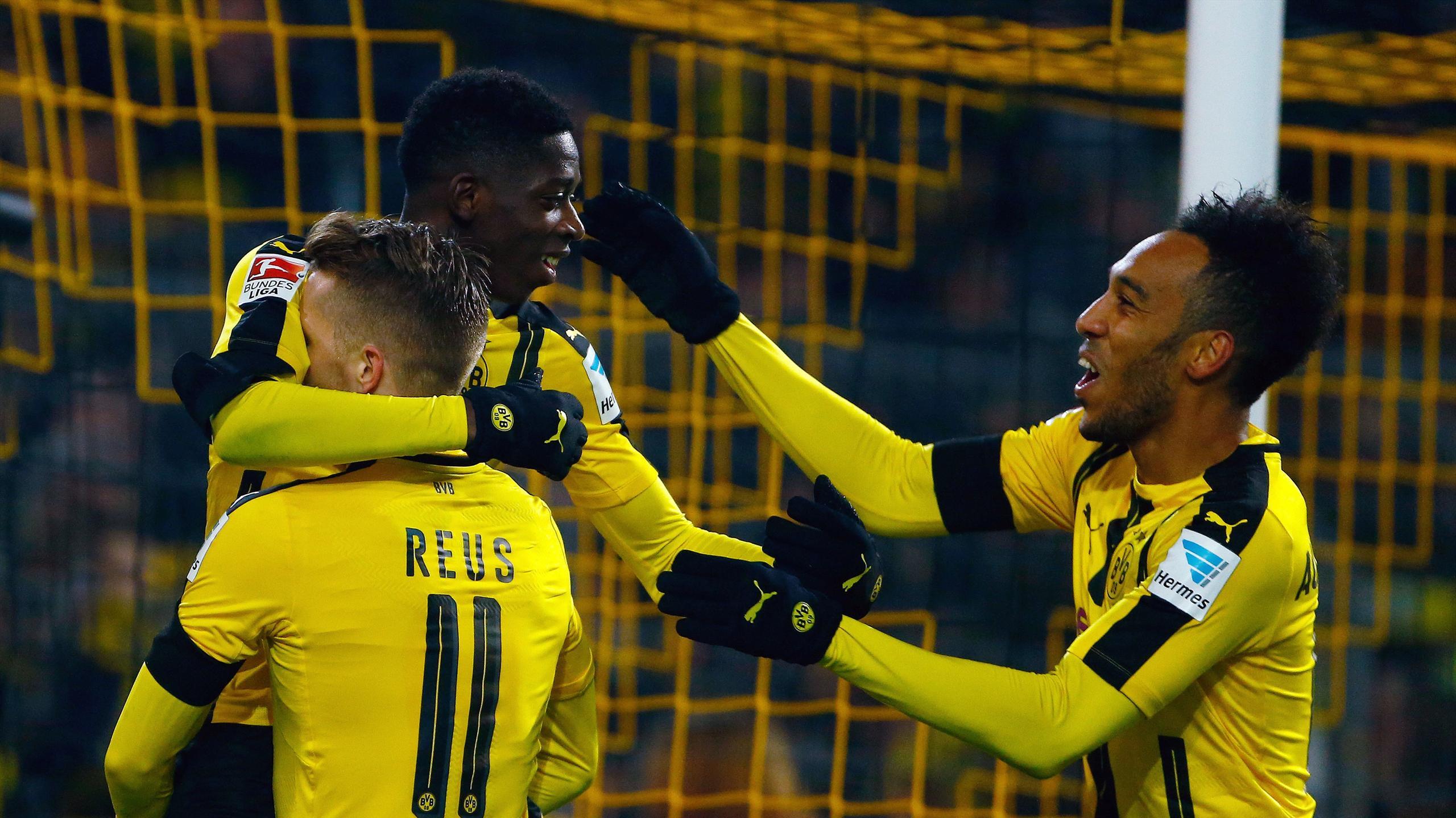 Borussia Dortmund stars Aubameyang, Reus and Dembele
