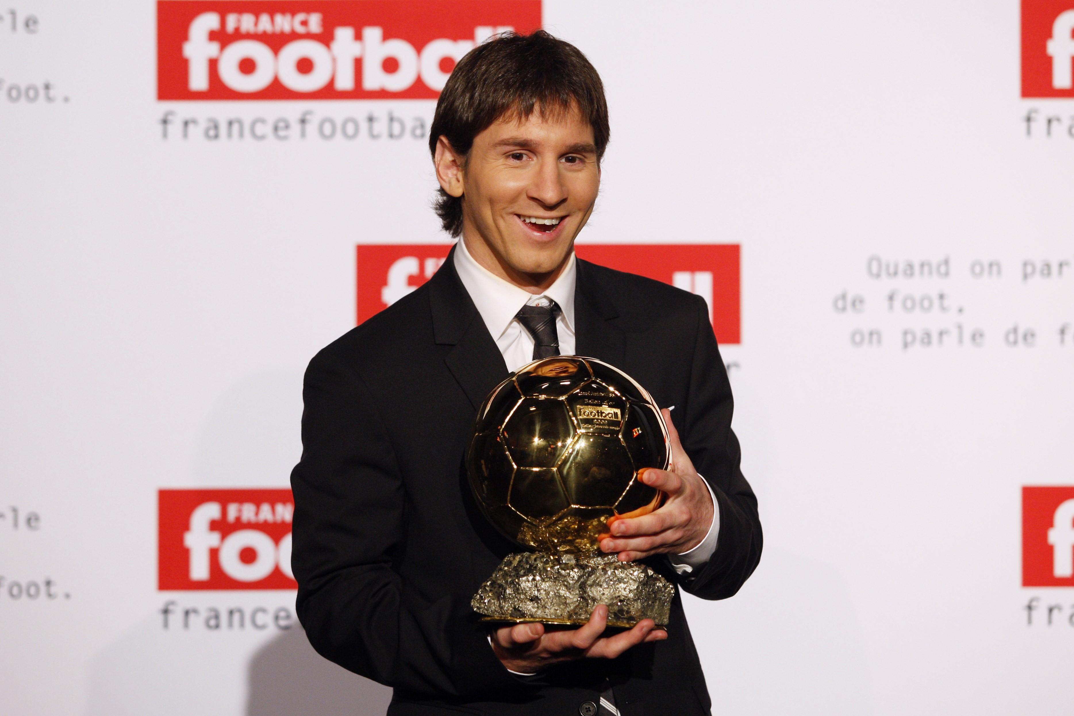 Лео Месси с «Золотым мячом»