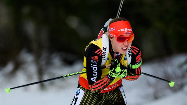 Dahlmeier wins sprint gold in Pokljuka