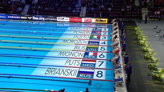 Mundiales de piscina corta: Jesse Puts, oro en 50 metros estilo libre