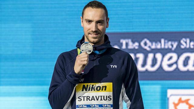 Argenté sur 50m dos, Stravius ramène une deuxième médaille aux Bleus