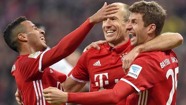 Bundesliga, Bayern-Wolfsburgo: Goleada para alcanzar al Leipzig (5-0)