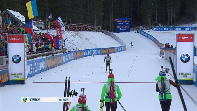 Biathlon-Frauen nicht zu schlagen (Highlights)