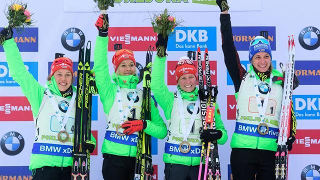 Germany battle back to take fourth season victory in Hochfilzen