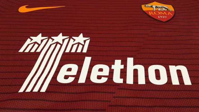La Roma va mettre son maillot au service du Telethon avant le choc contre la Juve