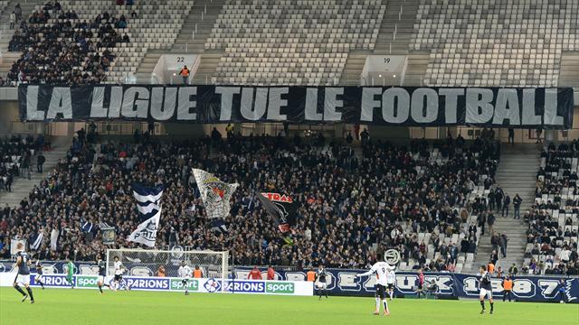 «La Ligue tue le football» : les supporters de Bordeaux s'en prennent à la LFP