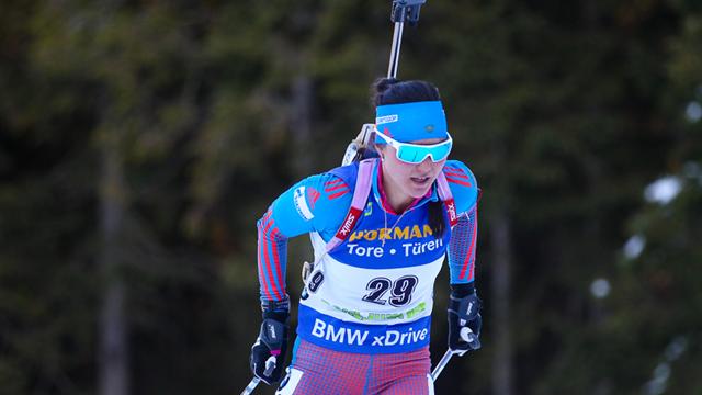 Россиянка Татьяна Акимова завоевала золото наэтапе Кубка мира побиатлону