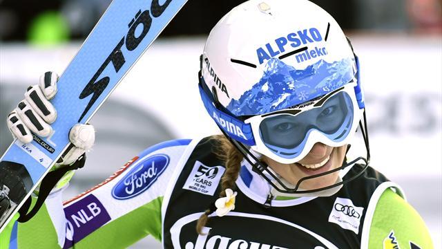 Victoire de la Slovène Stuhec — Val d'Isère (combiné)