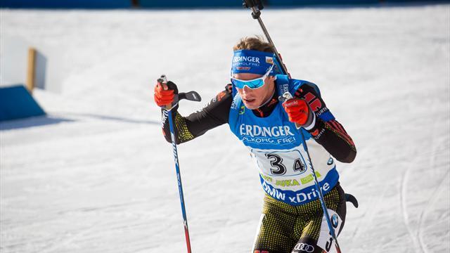 Biathlon-Staffel mit Podium beim Heimspiel
