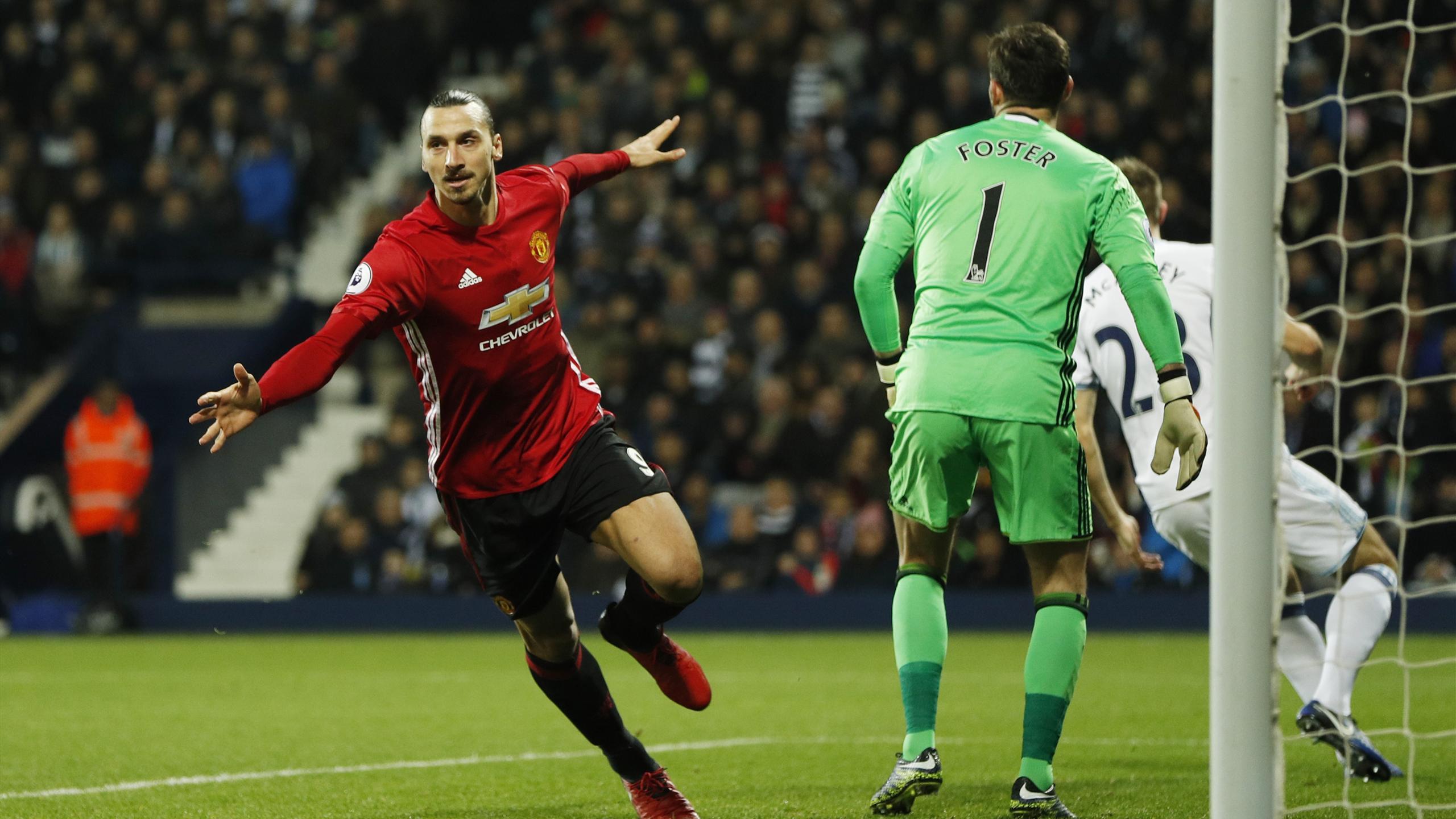 Manchester United's Zlatan Ibrahimovic celebrates scoring
