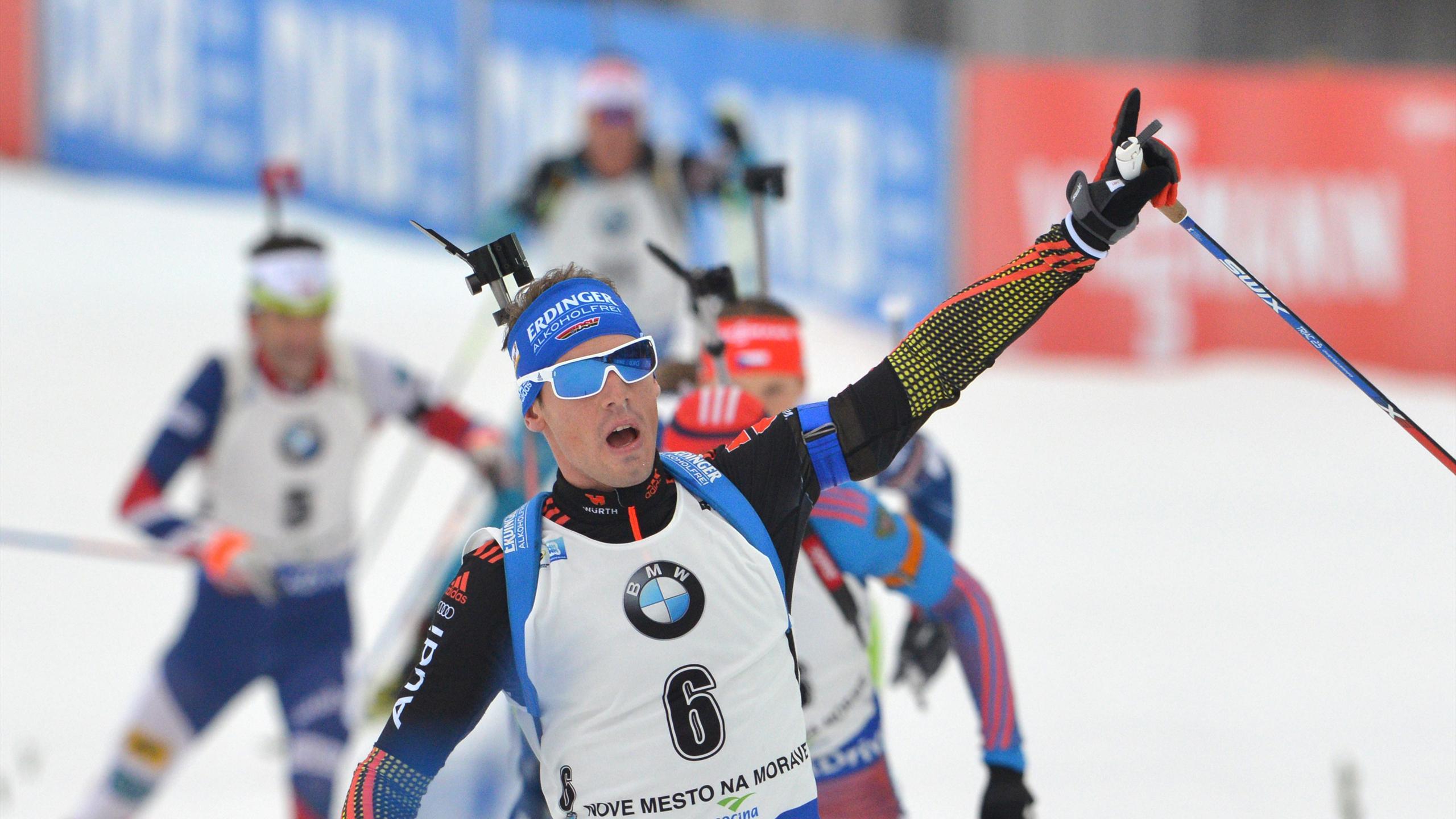 Simon Schempp wird Zweiter im Massenstart von Nove Mesto